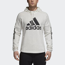 368496ca9346 adidas - Sport ID Logo Hoodie White Melange   Off White DM3676 ...