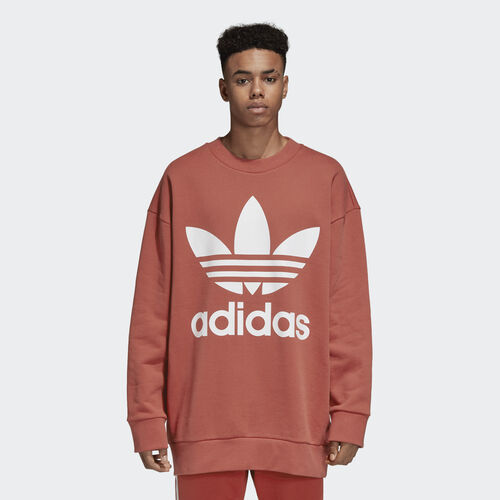 adidas - Oversize Trefoil Sweatshirt Shift Orange DH5771