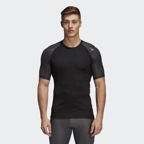 adidas - Alphaskin Sport Graphic Tee Black/Dgh Solid Grey/Print CF7243