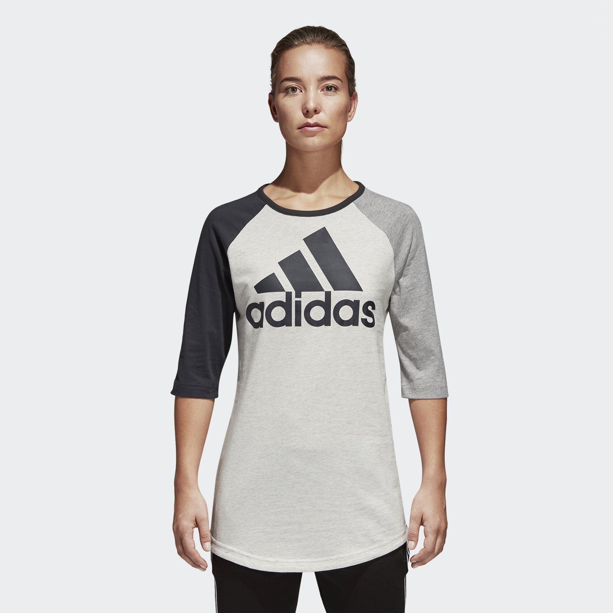 adidas - Sport ID Baseball Tee White Melange CF1428. Women Athletics