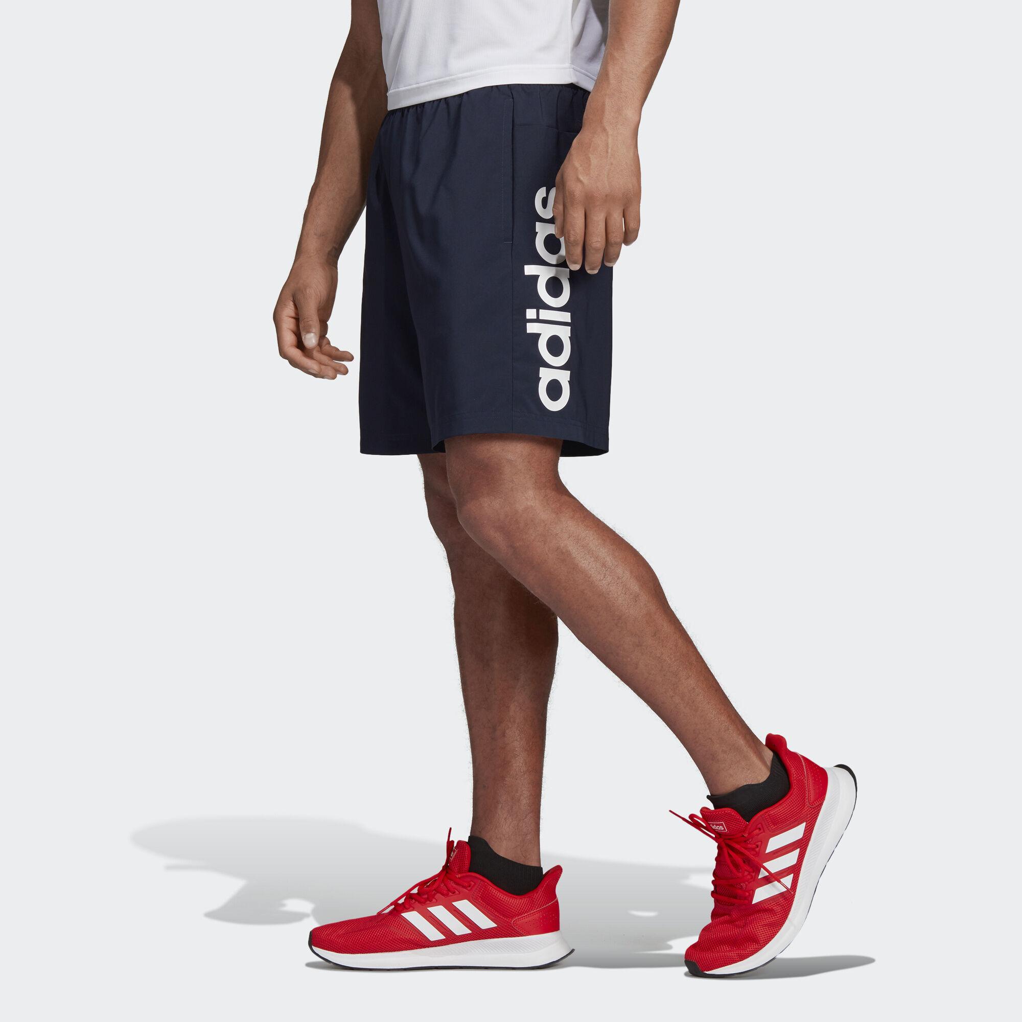 a2e37d4128 adidas - Essentials Linear Chelsea Shorts Legend Ink   White DU0418