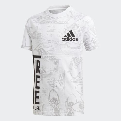 adidas - ID Print Tee White / Grey Two DJ1441