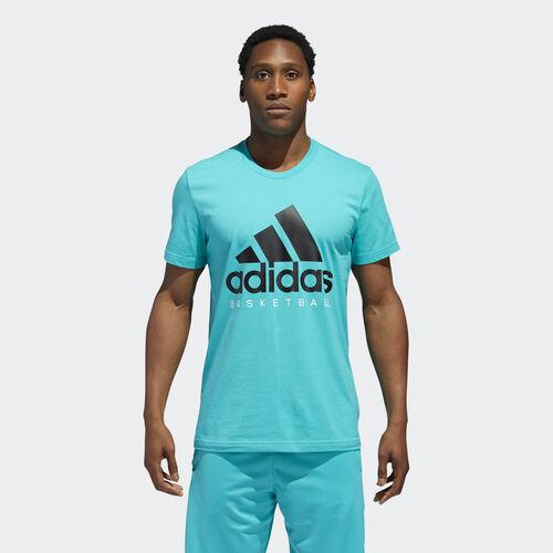 adidas - Basketball Graphic Tee Hi-Res Aqua / Black / White CW9264