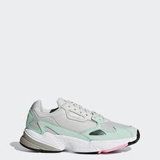 4ed3804648 adidas - Sapatos Falcon Grey One   Grey One   Easy Green B28127 ...