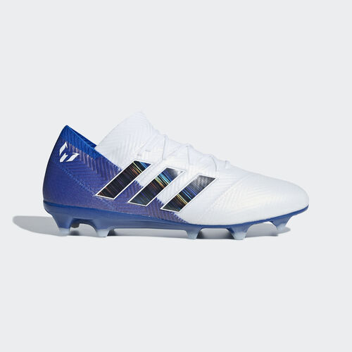adidas - Nemeziz Messi 18.1 Firm Ground Boots Ftwr White / Core Black / Football Blue DB2088