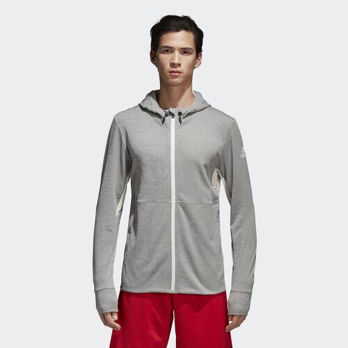 adidas - Climacool Textured Hoodie Grey/Chalk White CF7065