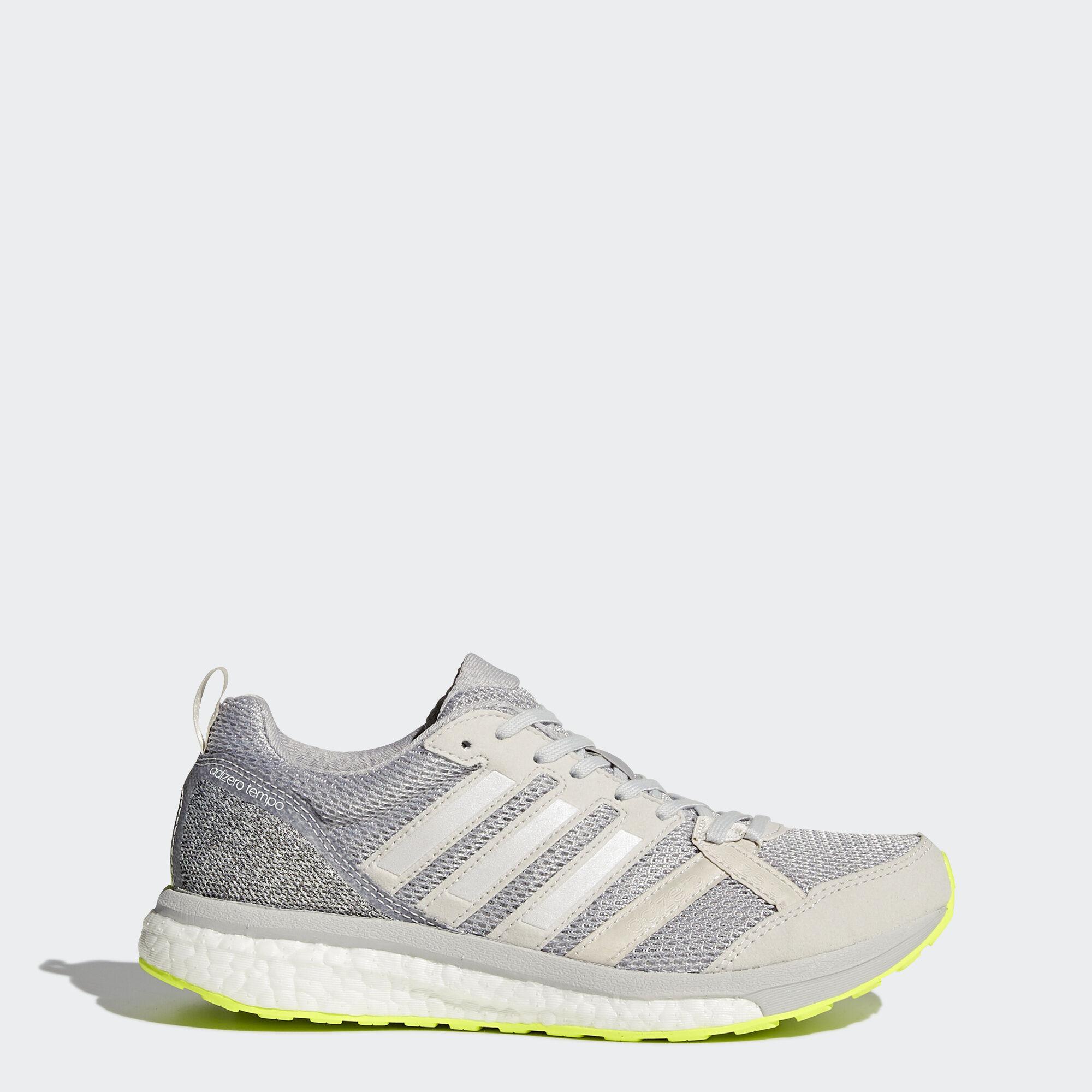 adidas - adizero Tempo 9 Shoes Grey One/Footwear White/Grey Two BA8240. Women  Running