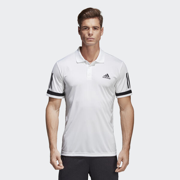 3-Stripes Club Polo Shirt Λευκό CE1415