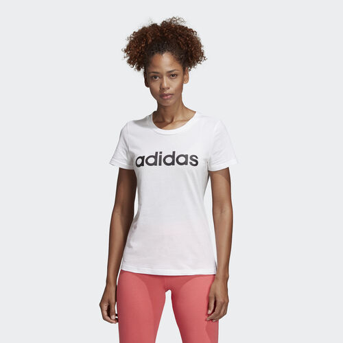 adidas - Essentials Linear Tee White / Black DU0629
