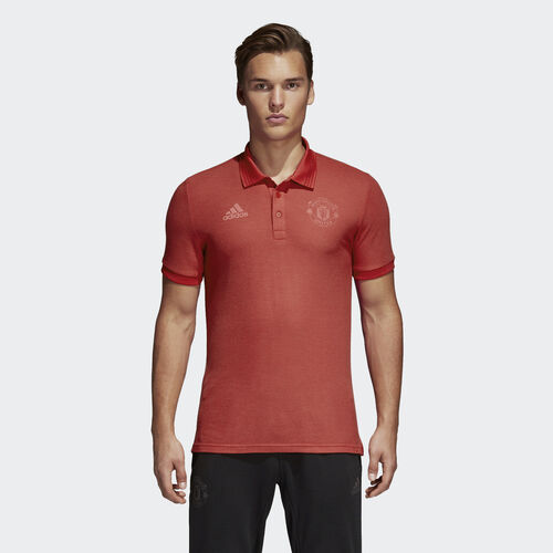 adidas - Manchester Utd Seasonal Polo Shirt Real Red CE6521