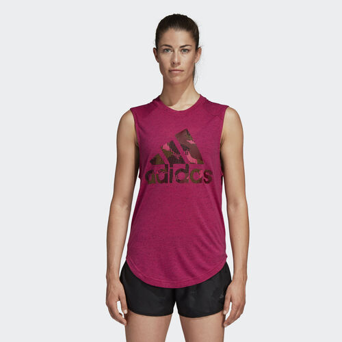 adidas - Here to Create Muscle Tee Real Magenta CZ9054