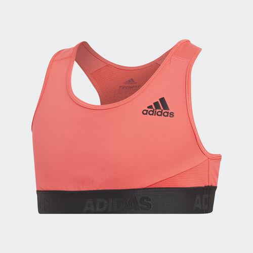 adidas - Alphaskin Sport Bra Shock Red / Black DV2771