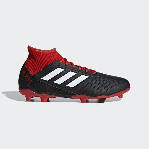 adidas - Predator 18.3 Firm Ground Boots Core Black / Ftwr White / Red DB2001