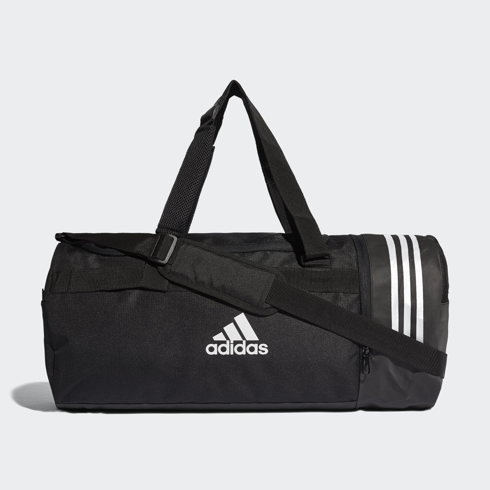 3 Black Adidas Convertible Bolsa Bandas De Deporte Mediana fBWanH