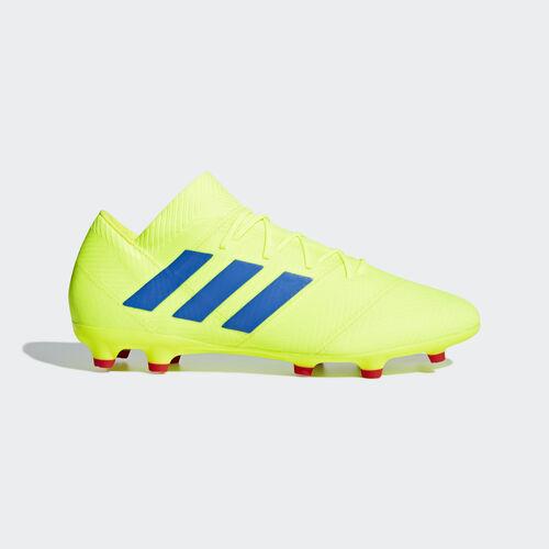 adidas - Nemeziz 18.2 Firm Ground Boots Solar Yellow / Football Blue / Active Red BB9431