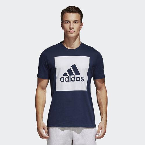 adidas - T-shirt Logótipo Box Essentials Collegiate Navy S98726