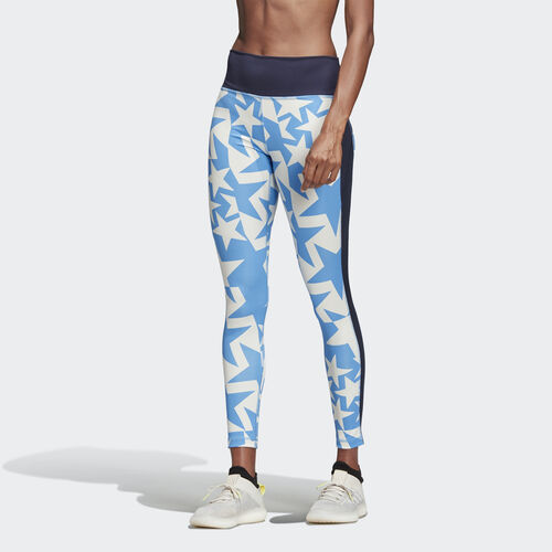 adidas - Believe This Iteration High-Rise Long Tights Shock Cyan DQ3137