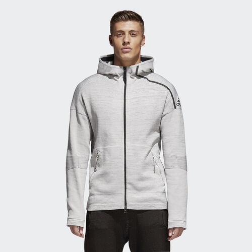 adidas - adidas Z.N.E. Primeknit Hoodie Grey/Chalk Pearl/Black CF0636