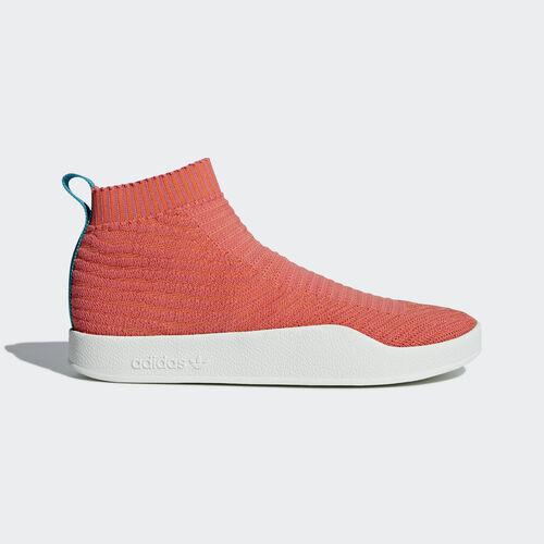 adidas - Adilette Primeknit Sock Shoes Trace Orange/Trace Orange/White Tint CM8227