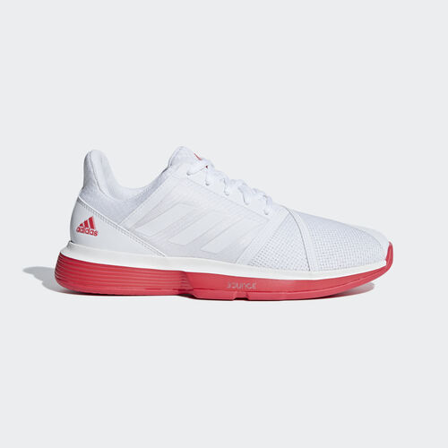 adidas - CourtJam Bounce Shoes Ftwr White / Ftwr White / Shock Red CG6325