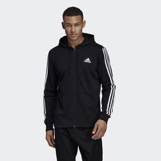 Must Haves 3-Stripes French Terry Hoodie Black / White DT9896