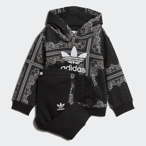 adidas - Bandana Hoodie Set Black / White DW3844