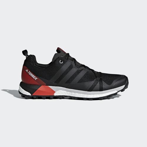 adidas - TERREX Agravic Shoes Core Black/Carbon/Hi-Res Red CM7615