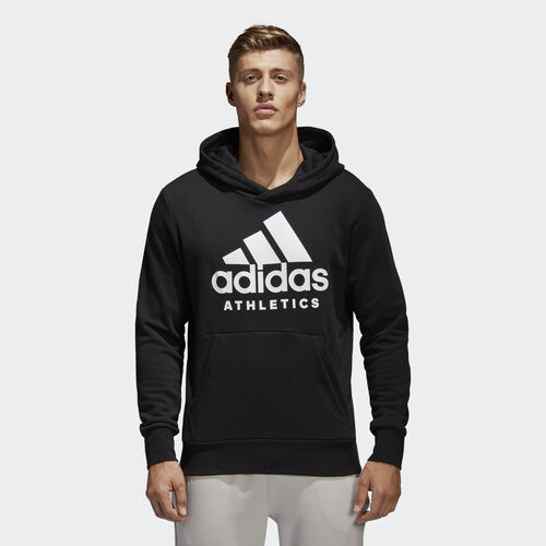 adidas - Sport ID Pullover Hoodie Black/White BR4747