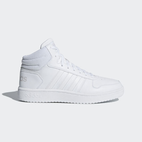 adidas - Hoops 2.0 Mid Shoes Ftwr White / Ftwr White / Ftwr White B42099
