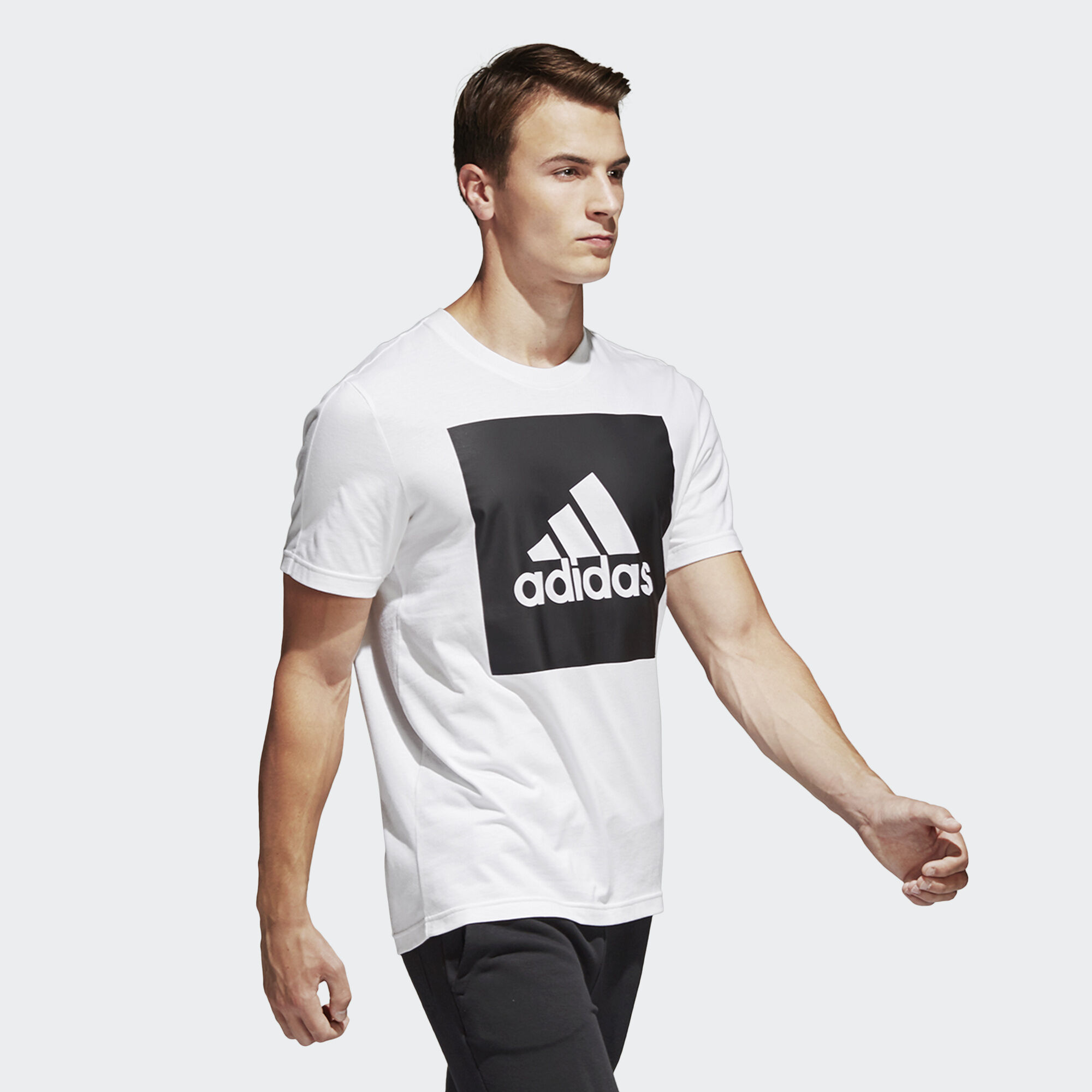 b28fb2be6dfe adidas Essentials Box Logo Tee - Λευκό