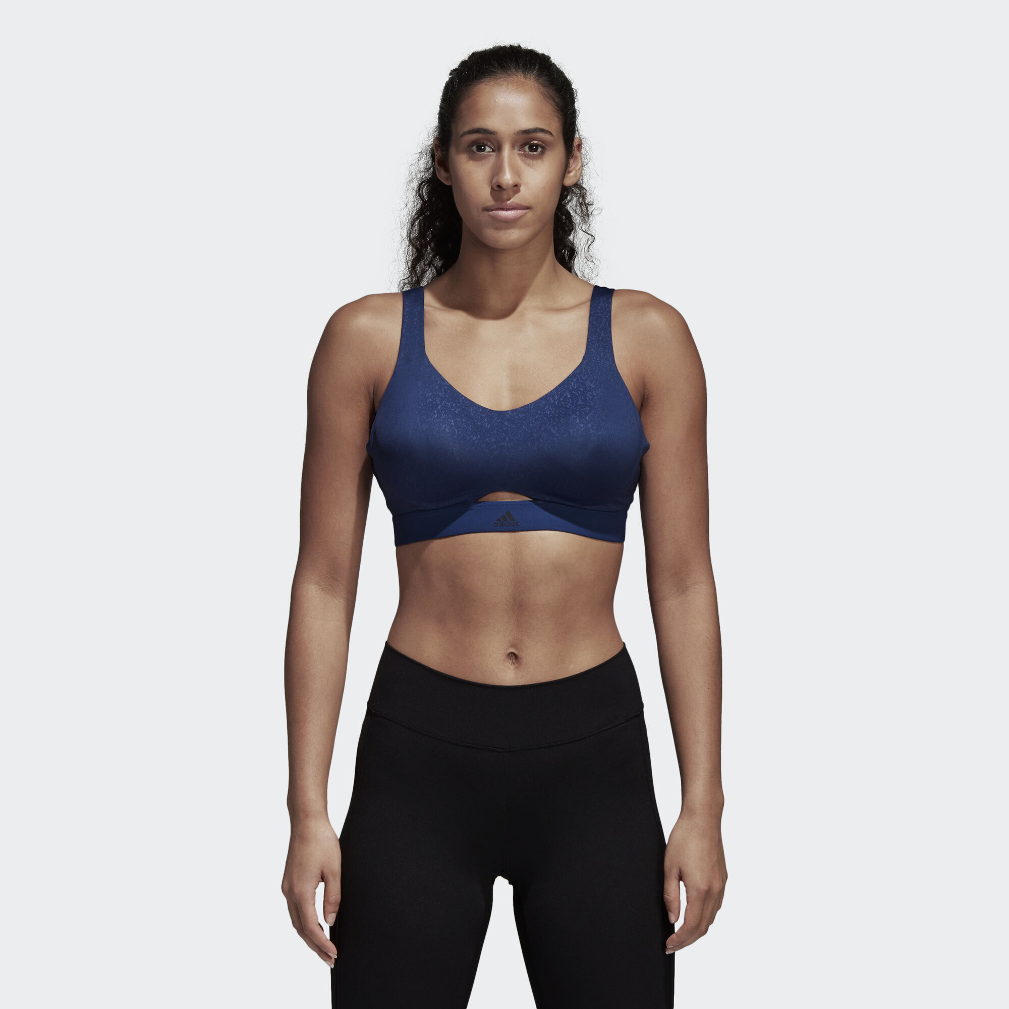Outlet Where To Buy High Support Bra In Blue - Noble indigo adidas Outlet Locations For Sale Reliable For Sale 9a9Jk