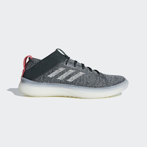 adidas - Pureboost Trainer Shoes Legend Ivy / Ash Silver / Shock Red BB7216
