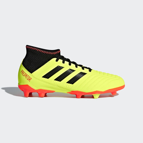 adidas - Predator 18.3 Firm Ground Boots Solar Yellow / Core Black / Solar Red DB2319