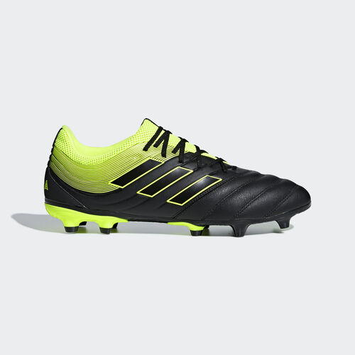 adidas - Copa 19.3 Firm Ground Boots Core Black / Solar Yellow / Core Black BB8090