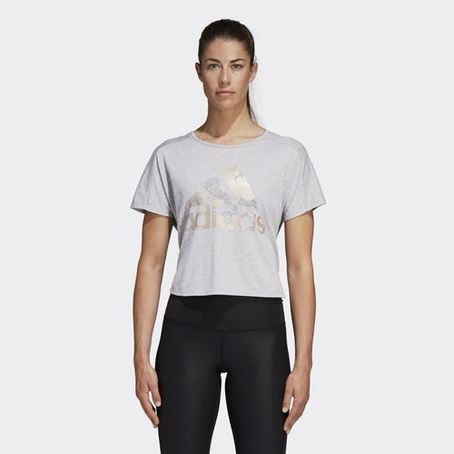 adidas - Here to Create Graphic Tee Medium Grey Heather DH6864