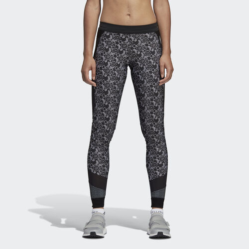 adidas - Run Printed Tights Black / White DM7161