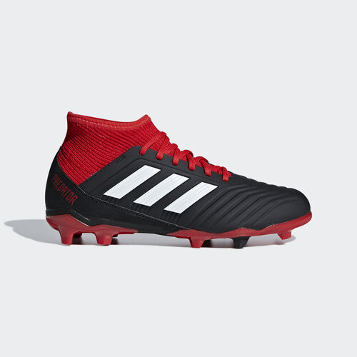 adidas - Predator 18.3 Firm Ground Boots Core Black / Ftwr White / Red DB2318