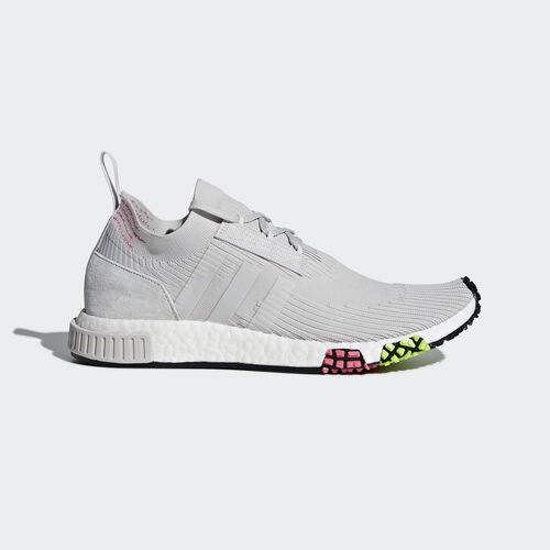 adidas - NMD_Racer Primeknit Shoes Grey One/Grey One/Solar Pink CQ2443