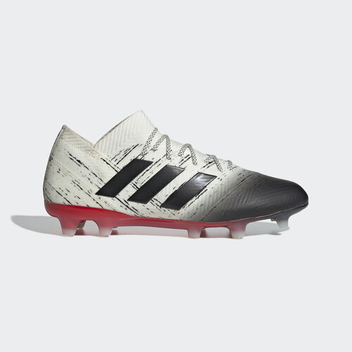 adidas - Nemeziz 18.1 Firm Ground Boots Off White / Core Black / Active Red BB9425