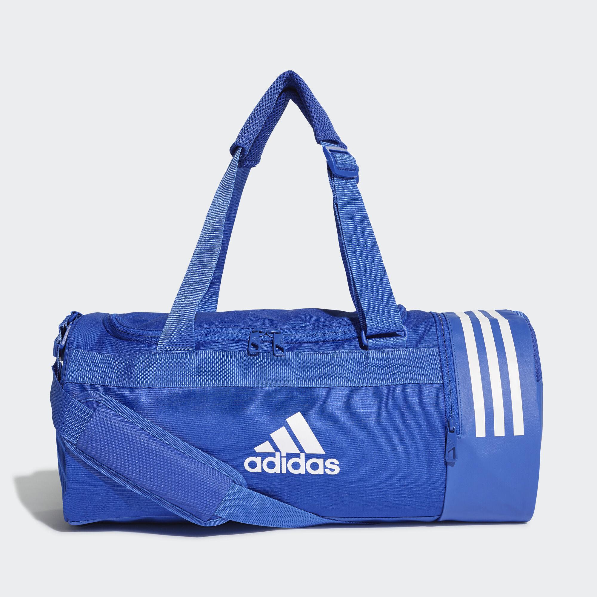adidas - Convertible 3-Stripes Duffel Bag Small Bold Blue   White   White  DT8646 5edf77a50b41d