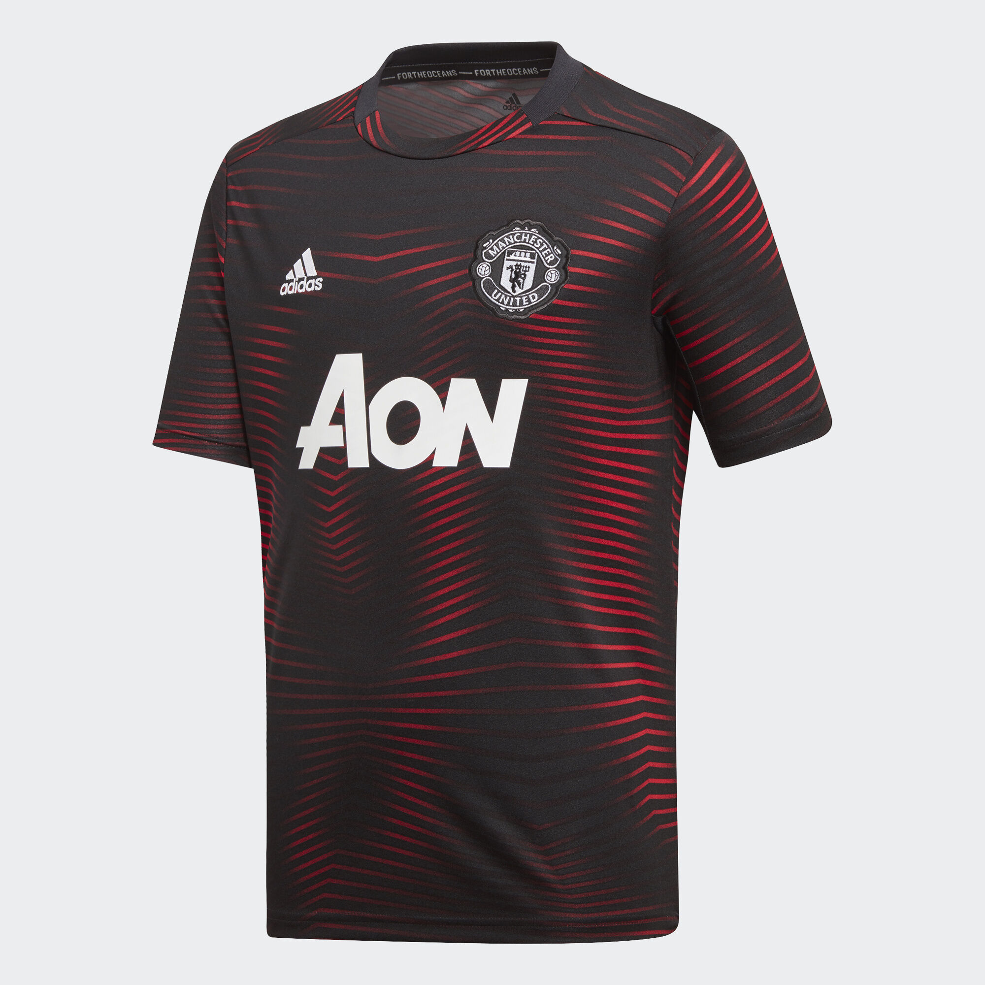 adidas - Manchester United Home Pre-Match Jersey Black   Real Red DP2284 51ba841a56024