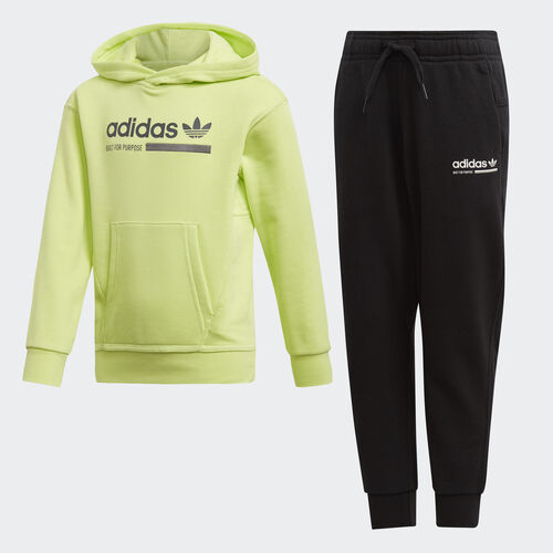 adidas - Kaval Hoodie Set Semi Frozen Yellow / Black DW9278