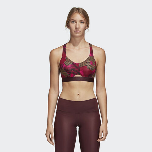 adidas - Stronger For It Soft Printed Bra Multicolor / Noble Maroon CX0000
