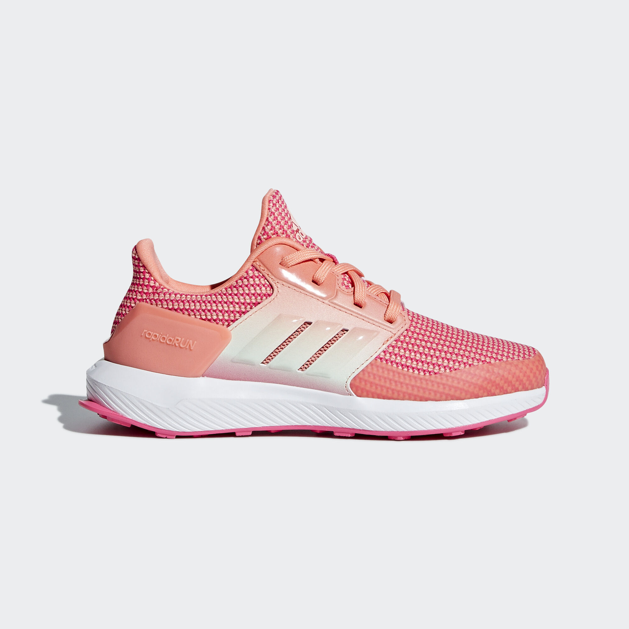 adidas - RapidaRun Shoes Real Pink   Chalk Coral   Aero Green AH2391 c2dc92c2b5d
