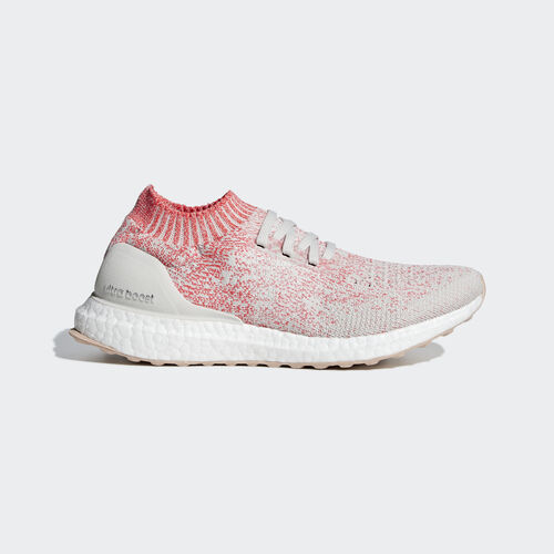 adidas - Ultraboost Uncaged Shoes Raw White / Raw White / Shock Red B75863