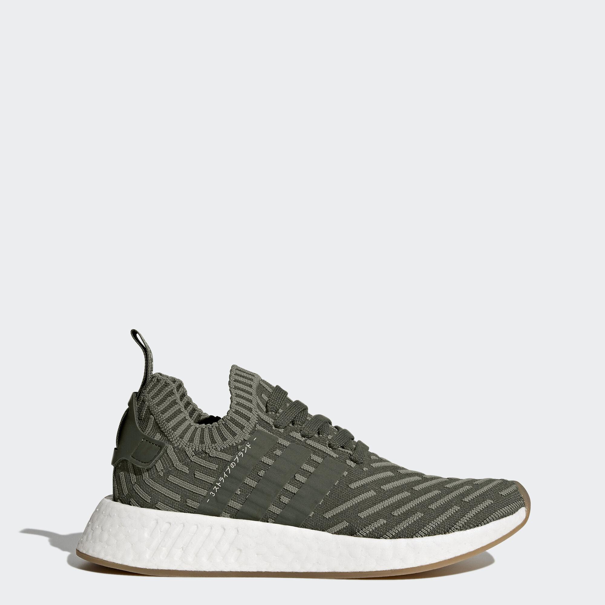 Adidas De Nmd_r2 'primeknit Sneaker - Vert WP1A1