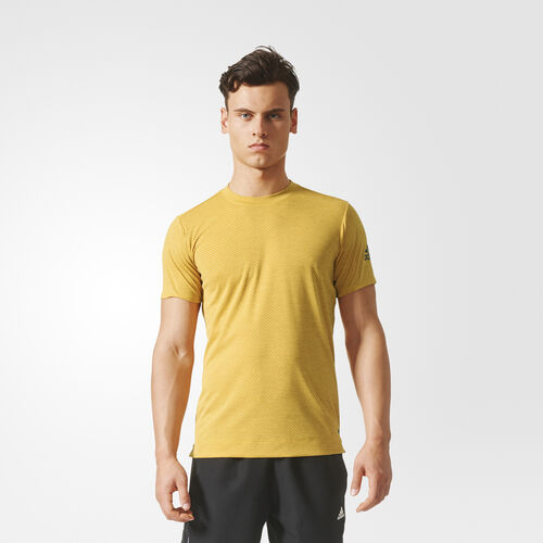 adidas - Climachill Speed Stripes FreeLift Tee Chill Eqt Yellow/Tac Y Dd/Tactile Yellow BR4153