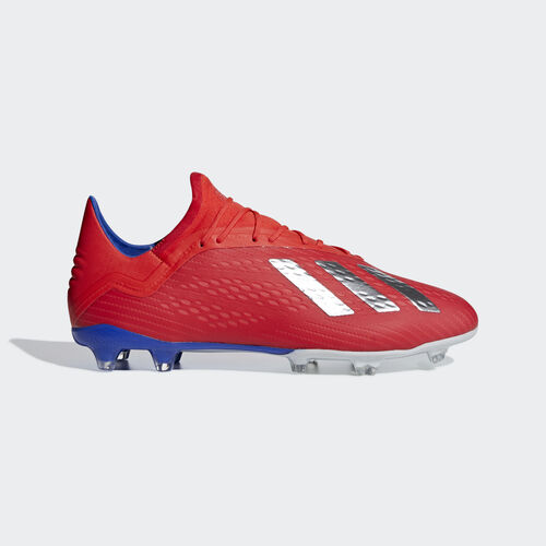 adidas - X 18.2 Firm Ground Boots Active Red / Silver Met. / Bold Blue BB9363