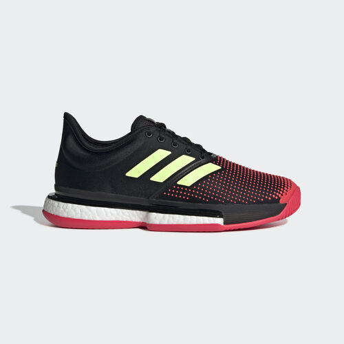 adidas - SoleCourt Boost Shoes Core Black / Hi-Res Yellow / Shock Red G26297