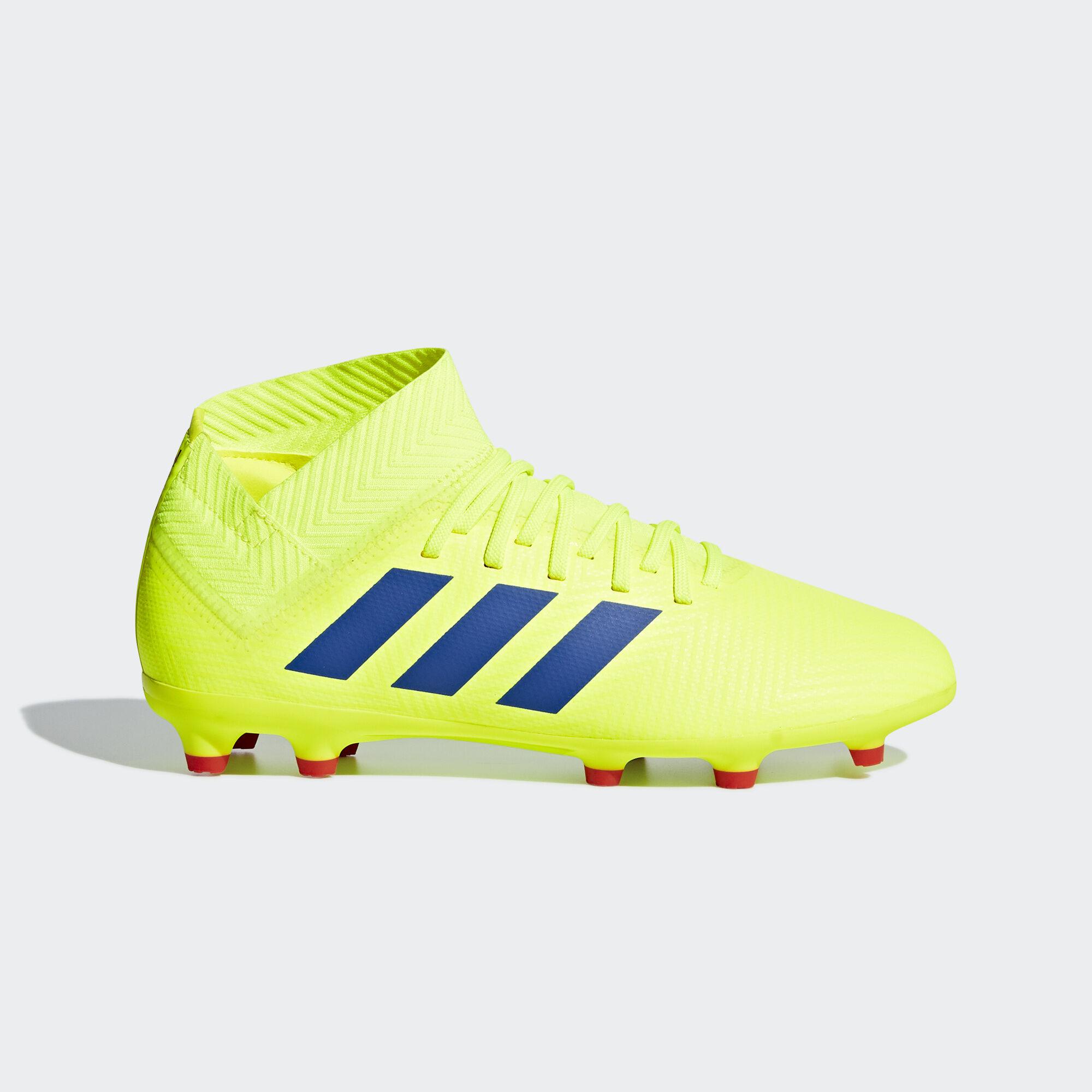 adidas - Nemeziz 18.3 Firm Ground Boots Solar Yellow   Football Blue   Active  Red CM8505 317cb5308702b